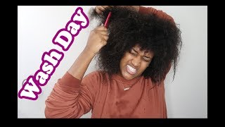 My Natural Hair | WASH DAY AFTER THE WEAVE