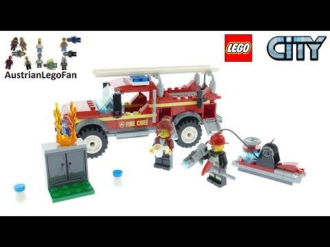 Vidéo LEGO City 60231 : Le camion du chef des pompiers