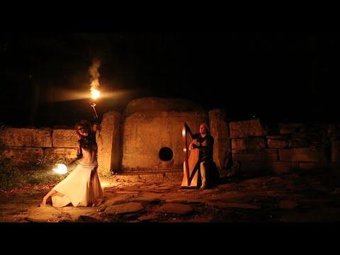 Celtic harp -Alizbar  & Julia Dream fire dance   Dreams of Salamander / Сны Саламандры