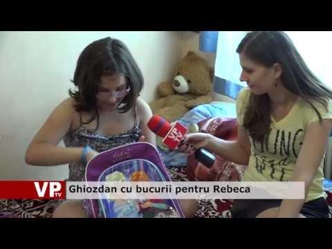 Ghiozdan cu bucurii pentru Rebeca
