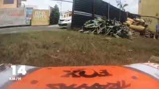 Traxxas UDR Unlimited Desert Racer FPV GoPro Hero7 black test run offroad at the backyard mini track