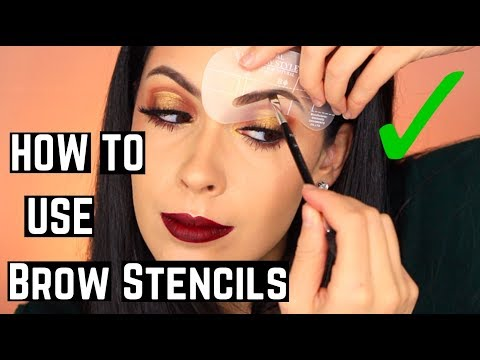 How To Use an Eyebrow Stencil Tutorial & Review | Helpful Tips and Tricks for Perfect Brows