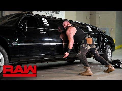 Furious Braun Strowman pushes over Mr. McMahon's limousine: Raw, Jan. 14, 2019 (видео)