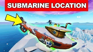 Dance on Top of a SUBMARINE - LOCATION WEEK 1 CHALLENGES FORTNITE SEASON 7
