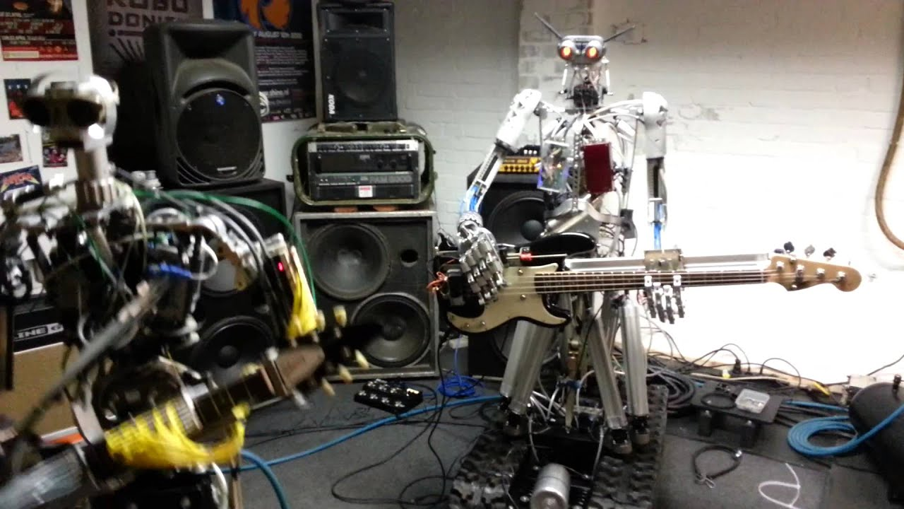 Watch This Crazy Robot Band Rock Out Like Total Machines