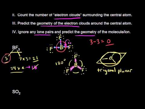 VSEPR for 3 electron clouds (video) Khan Academy