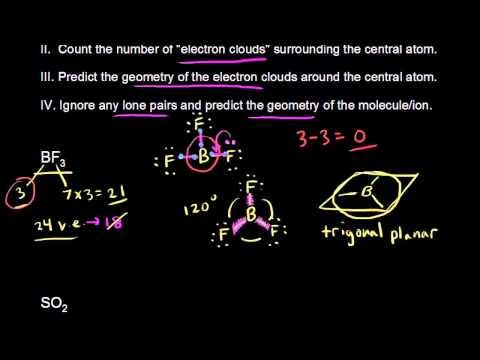 VSEPR for 3 electron clouds
