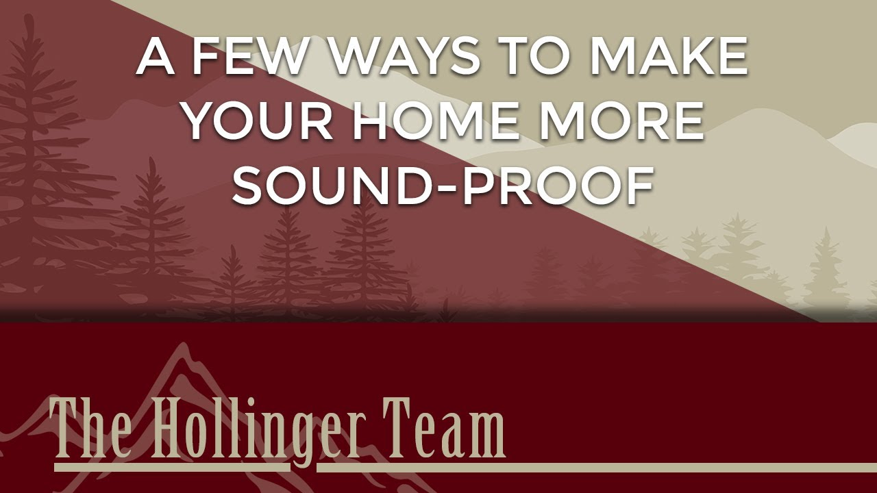 A Few Ways to Make Your Home More Sound-Proof