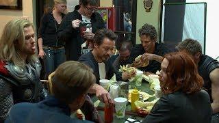 The Avengers | Filming schwarma scene