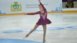 Евгения Медведева. Чемпионат России по фигурному катанию на коньках 2016.