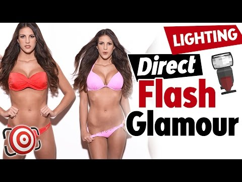 How to Shoot a DIRECT FLASH Glamour Shot or Beauty Portrait –  Lighting Tutorial
