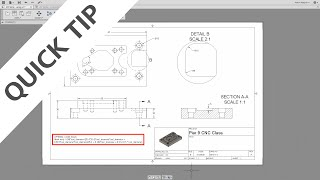 QUICK TIP: Special Symbols in Drawings