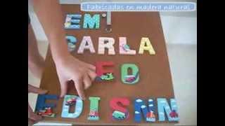 Letras 3D para nombre de niña y niño