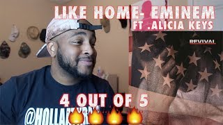 Eminem - Like Home ft. Alicia Keys (REVIVAL ALBUM) REACTION ( SUPER HOT FIRE )