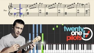 twenty one pilots: Can't Help Falling In Love (PlaintivePiano) - EASY Piano Tutorial