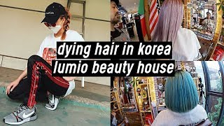 Bleaching + Dying Hair in Korea (Platinum Lavender & Turquoise): Lumio Beauty House | DTV #39