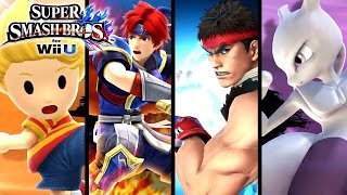 Super Smash Bros ALL DLC Character Trailers (Wii U, 3DS)