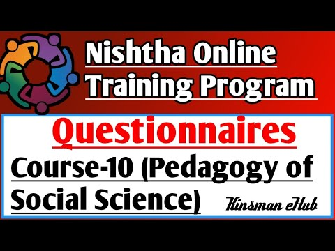 Course- 10 Questionnaires (Pedagogy of Social Science) - YouTube