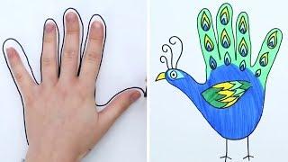 Простая Техника рисования - Рисунки с руки / Простой способ научится рисовать