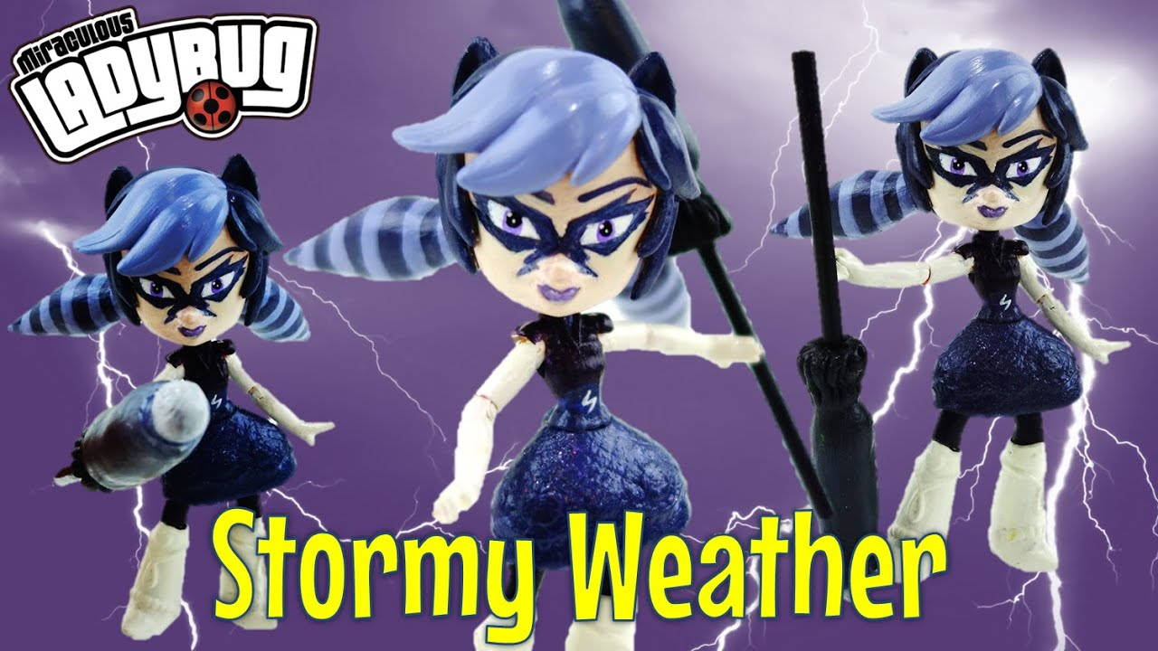 Stormy Weather (Climatika) Miraculous Ladybug Villains Custom Action Figure Doll Tutorial