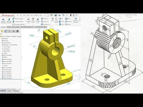 AutoCAD Nut & Bolt Drawing Tutorial - CAD CAM Tutorials - Video