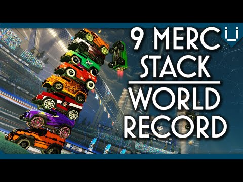 9 MERC STACK!! | NEW WORLD RECORD | Rocket League