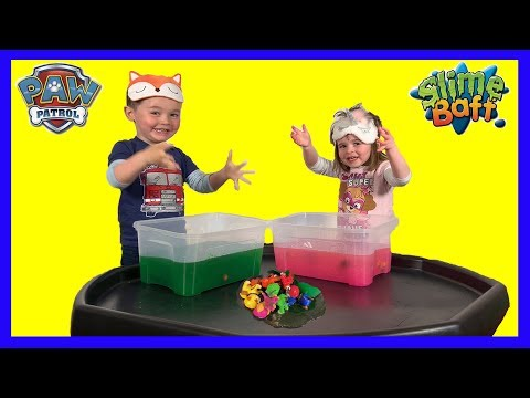 Paw Patrol Pups in the Slime Baff! Super Fun Game for Kids! With Chase, Marshall, Skye, Rubble, Zuma