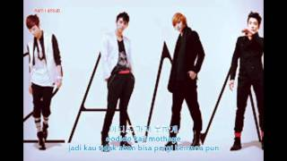 2AM - Even If I Die, I Can't Let You Go (Korean Hangeul and Indonesia Translate Lyrics)