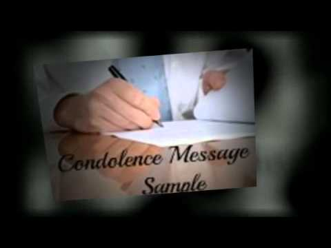 Condolence Message Sample Mp3