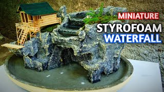 Amazing Waterfall Ideas Mini Landscape With Styrofoam - CLIFF WATERFALL DIORAMA