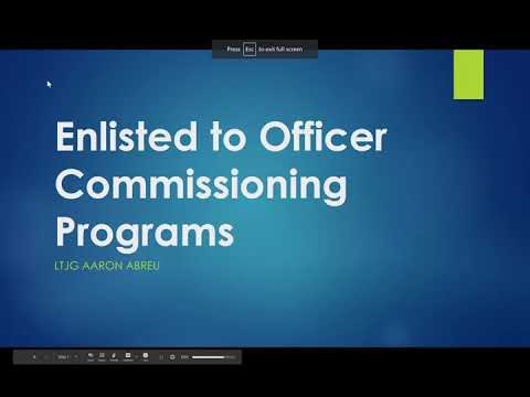 Enlisted to Commissioning Programs (Navy)