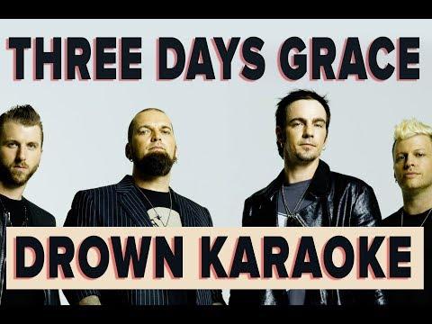 three days grace - drown karaoke