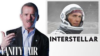 Astronaut Chris Hadfield Reviews Space Movies, From Gravity To Interstellar | Vanity Fair