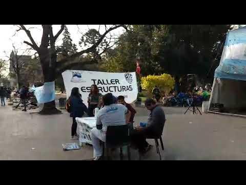 Sigue el acampe de Astillero y hoy habrá show musical en apoyo al reclamo en Plaza San Martín