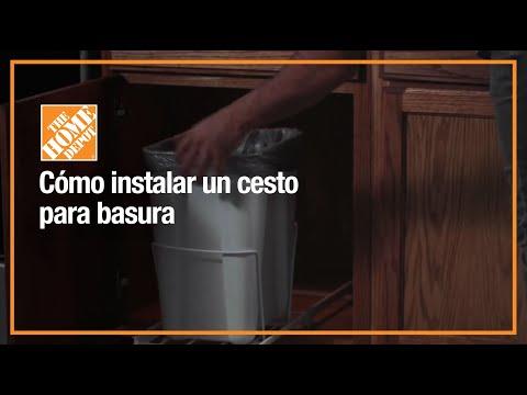 Instala un cesto deslizable para basura