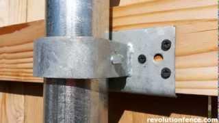 Wood Fence Bracket Comparison | Revolution Fence | Meridian Idaho | (208) 991-4283