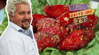 SCREAMING Red Spicy Garlic Wings (from #DDD With Guy Fieri)   Food Network