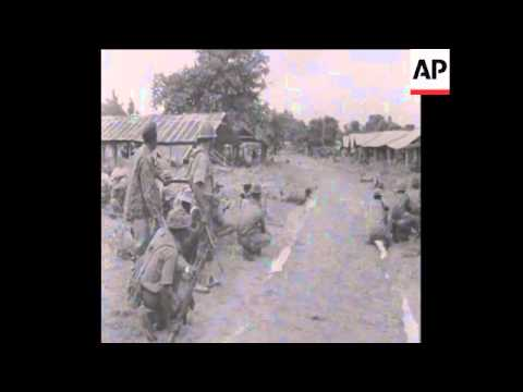 SYND 23/7/69 NIGERIAN TROOPS PREPARE FOR BIGGEST BATTLE OF CIVIL WAR