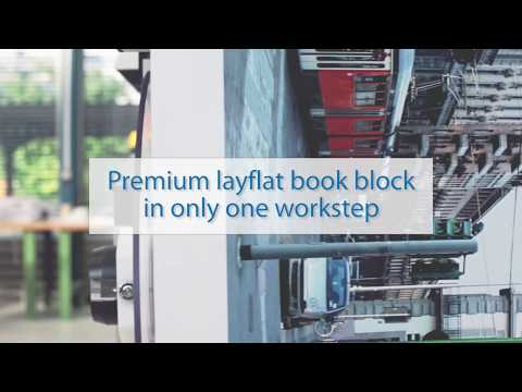 The fully automatic fastBlock bookbinding machine from Imaging Solutions produces complete book blocks in layflat binding in just one workstep.