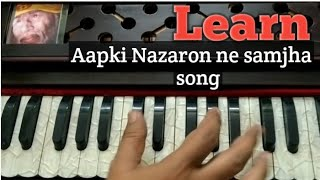 Aapki nazaron ne samjha | Lata Mangeshkar | Harmonium/ keyboard Tutorial