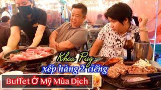 Xếp Hàng Ăn Buffet BBQ Siêu Rẻ Ở Los Angeles Mỹ! - Khoa Pug Gặp Lại Sếp Cameraman Ở Korean Town