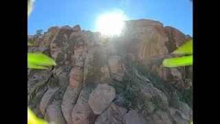 DJI FPV System Diving Calico Mountains Red Rock Canyon Navada.