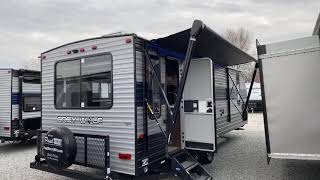 Most Popular 2-4 Person Travel Trailer, 2020 Forest River Grey Wolf 23MK!