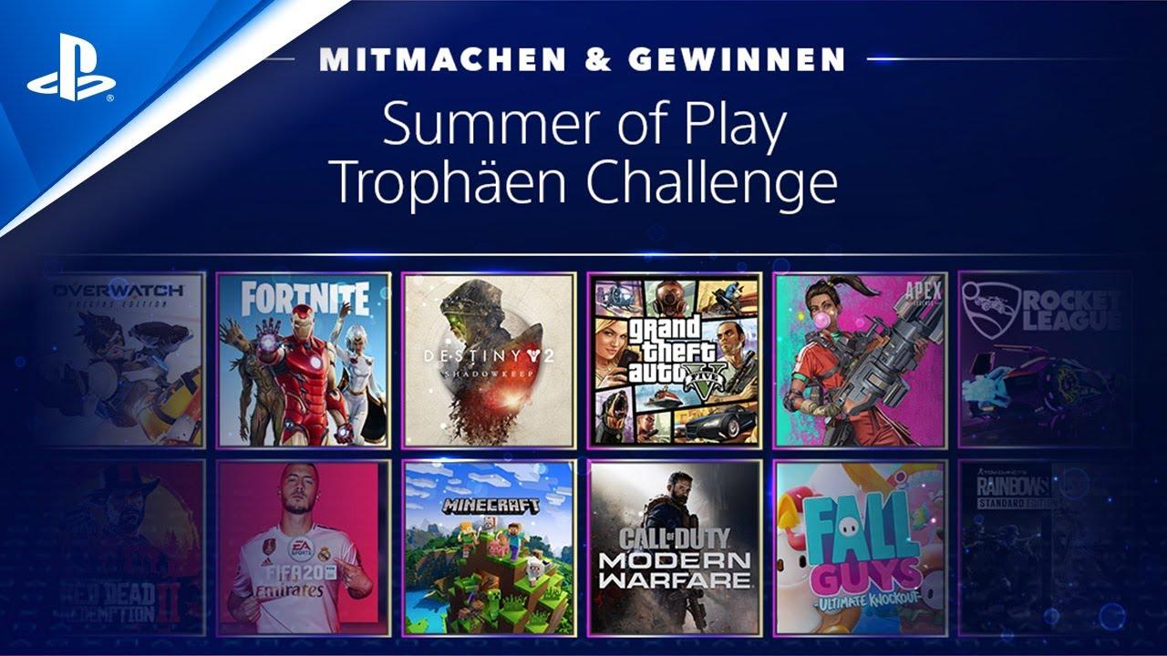 Die 3. Runde der Summer of Play Trophäen Challenge ist da