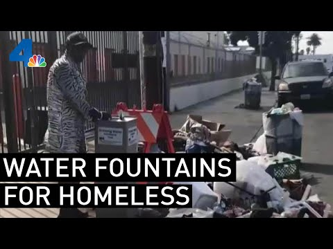 Water Fountains Installed for Homeless During Heat Wave