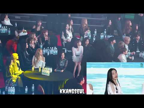 190123 BLACKPINK, IZ*ONE (아이즈원) Reaction to Red Velvet 'With You' + 'Power Up' at 2019 GAON CHART