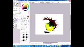 Смотреть онлайн Как нарисовать глаза девушки в стиле аниме в SAI