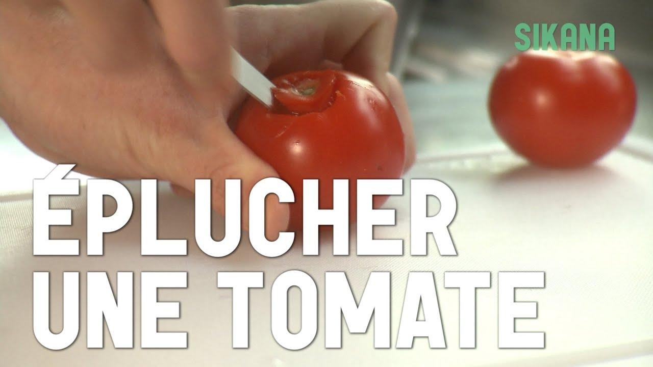 Eplucher une tomate apprendre cuisiner les l gumes sikana - Cuisiner les tomates sechees ...