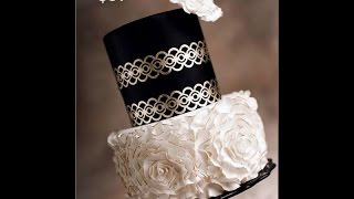 Gold Lace And Rosettes Cake Tutorial Preview