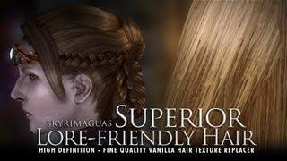 TES V - Skyrim: Superior Lore-Friendly Hair - HD textures